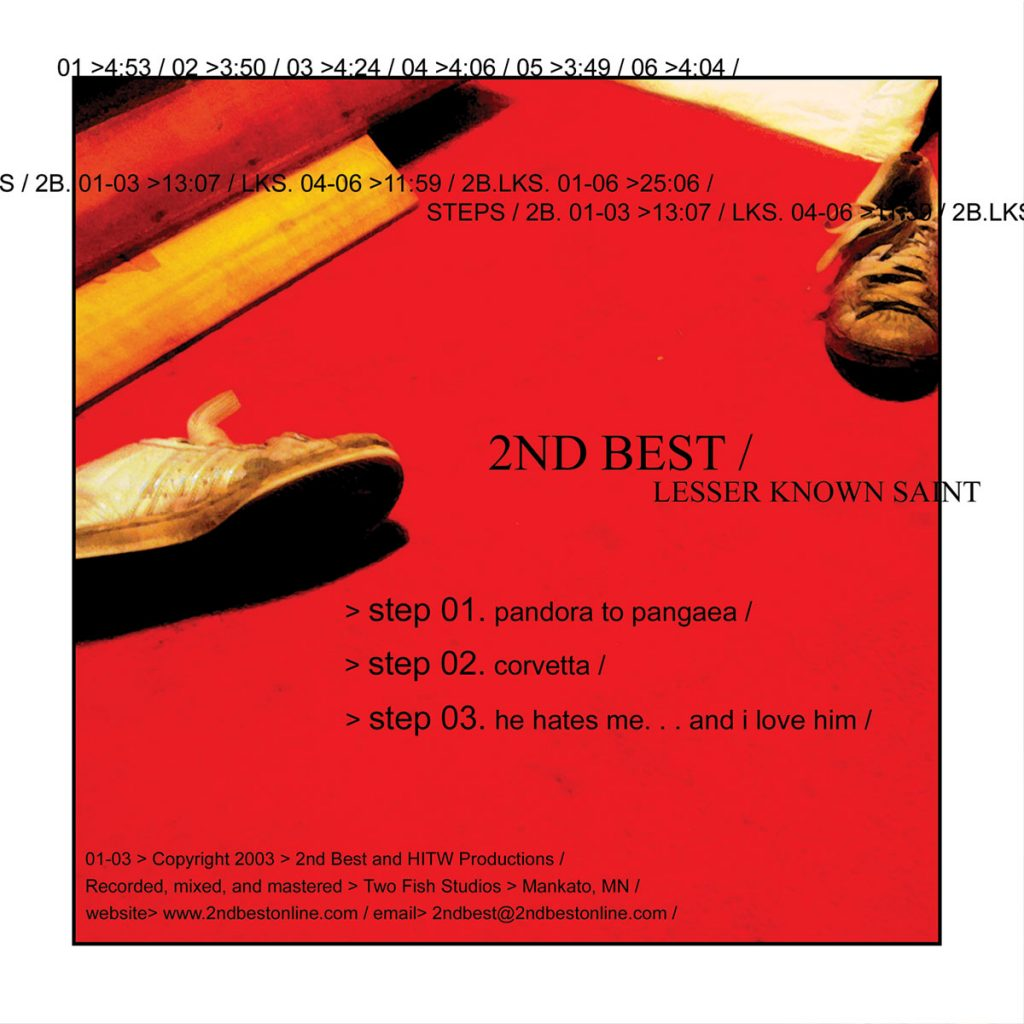 A split CD release with Lesser Known Saint featuring 3 new studio recordings from the band in 2003